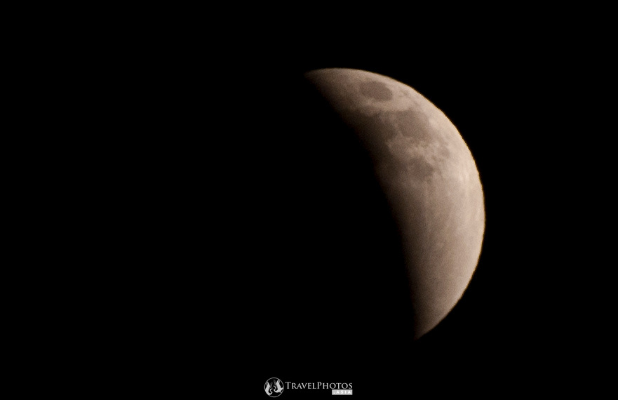 The lunar eclipse of the 10th December 2011 as seen in Japan with some cloud and haze. (Note this image is very small and not for large printing).