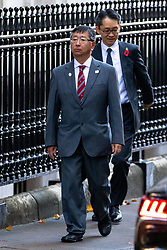 © Licensed to London News Pictures. 12/11/2018. London, UK. Ambassador of Japan to the UK Koji Tsuruoka seen in Downing Street this morning. Photo credit : Tom Nicholson/LNP