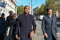 © Licensed to London News Pictures. 18/10/2019. London, UK. CHUKA UMUNNA MP for Streatham outside Cabinet Office before the crunch Brexit debate and vote on Saturday 19 Oct 2019.  Photo credit: Dinendra Haria/LNP