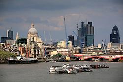 UK ENGLAND LONDON 14MAY10 - Skyline of the City of London, seen from Waterloo Bridge in central London...jre/Photo by Jiri Rezac..© Jiri Rezac 2010