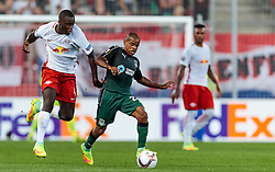 15.09.2016, Red Bull Arena, Salzburg, AUT, UEFA EL, FC Red Bull Salzburg vs FC Krasnodar, Gruppe I, 1. Runde, im Bild Dayot Upamecano (FC Red Bull Salzburg), Joaozinho (FC Krasnodar) // during the UEFA Europa League, group I, 1st round match between FC Red Bull Salzburg and FC Krasnodar at the Red Bull Arena in Salzburg, Austria on 2016/09/15. EXPA Pictures © 2016, PhotoCredit: EXPA/ JFK