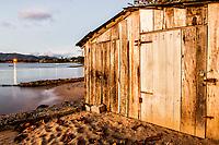 Casa de barcos na Praia do Ribeirão da Ilha. Florianópolis, Santa Catarina, Brasil. / Boat house in Ribeirao da Ilha Beach. Florianopolis, Santa Catarina, Brazil.