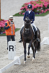 Van der Putten Marieke, (NED), Fellini KS<br /> Selectie 5 jarige WK paarden<br /> Dutch Championship Dressage - Ermelo 2015<br /> © Hippo Foto - Dirk Caremans<br /> 18/07/15