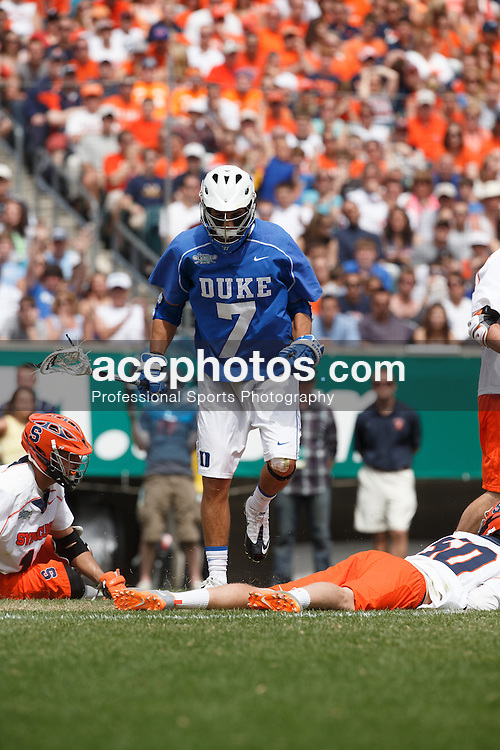 2013 May 27: Jake Tripucka #7 of the Duke Blue Devils during a 16-10 win over the Syracuse Orange to win the NCAA national championship at Lincoln Financial Field in Philadelphia, PA.