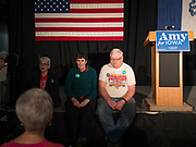 05 DECEMBER 2019 - DES MOINES, IOWA: Supporters of US Senator Amy Klobuchar (D-MN) wait for Sen. Klobuchar at a campaign event in Des Moines. Sen. Klobuchar is campaigning to be the Democratic nominee for the US Presidency. Iowa holds the first selection event of the Presidential election cycle. The Iowa caucuses are Feb. 3, 2020.                 PHOTO BY JACK KURTZ