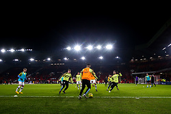 Manchester City warm up at Bramall Lane ahead of the Premier League fixture against Sheffield United - Mandatory by-line: Robbie Stephenson/JMP - 21/01/2020 - FOOTBALL - Bramall Lane - Sheffield, England - Sheffield United v Manchester City - Premier League