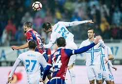 Lorenco Simic of HNK Hajduk vs Franko Andrijasevic of HNK Rijeka during football match between HNK Rijeka and HNK Hajduk Split in Round #15 of 1st HNL League 2016/17, on November 5, 2016 in Rujevica stadium, Rijeka, Croatia. Photo by Vid Ponikvar / Sportida