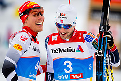 February 22, 2019 - Seefeld In Tirol, AUSTRIA - 190222 Franz-Josef Rehrl of Austria and Jarl Magnus Riiber of Norway after competing in men's nordic combined 10 km Individual Gundersen during the FIS Nordic World Ski Championships on February 22, 2019 in Seefeld in Tirol..Photo: Vegard Wivestad GrÂ¿tt / BILDBYRN / kod VG / 170288 (Credit Image: © Vegard Wivestad Gr¯Tt/Bildbyran via ZUMA Press)