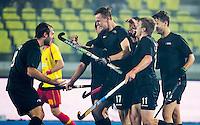 LUCKNOW (India) -   Junior World Cup hockey  U21 for men .  Spain v New Zealand. Dylan Thomas (NZL) scored for NZ. .COPYRIGHT  KOEN SUYK