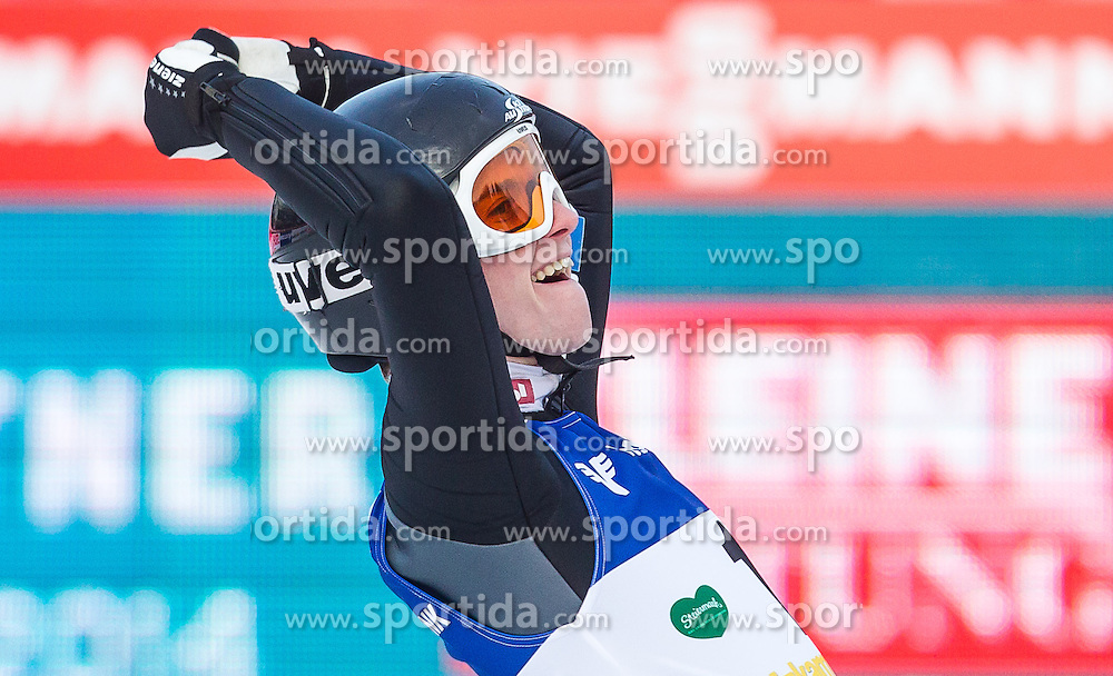 11.01.2014, Kulm, Bad Mitterndorf, AUT, FIS Ski Flug Weltcup, Bewerb, im Bild Manuel Poppinger (AUT) // Manuel Poppinger (AUT) during the FIS Ski Flying World Cup at the Kulm, Bad Mitterndorf, Austria on <br /> 2014/01/11, EXPA Pictures &copy; 2014, PhotoCredit: EXPA/ JFK