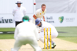 © Licensed to London News Pictures. 27/12/2013. Peter Siddle bowls a bouncer at Monty Panesar during Day 2 of the Ashes Boxing Day Test Match between Australia Vs England at the MCG on 27 December, 2013 in Melbourne, Australia. Photo credit : Asanka Brendon Ratnayake/LNP