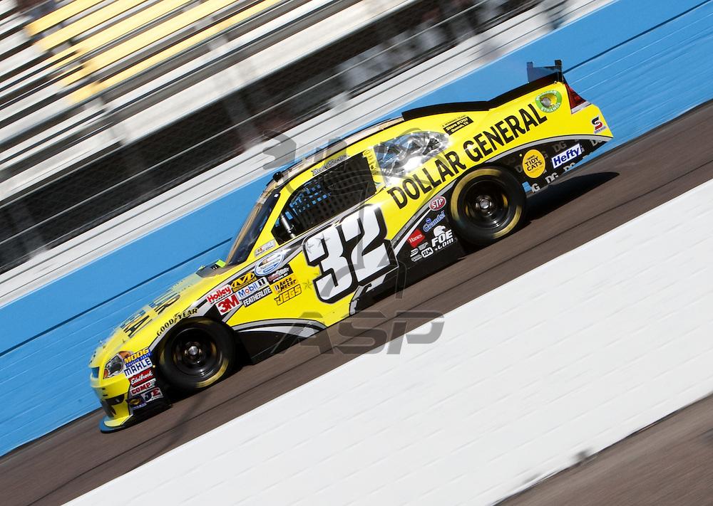 Avondale, AZ - FEB 25, 2011:  Reed Sorenson (32) practices for the Bashas' Supermarkets 200 race at the Phoenix International Raceway in Avondale, AZ.