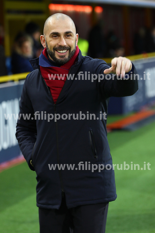"""Foto Filippo Rubin<br /> 24/02/2018 Bologna (Italia)<br /> Sport Calcio<br /> Bologna - Genoa - Campionato di calcio Serie A 2017/2018 - Stadio """"Renato Dall'Ara""""<br /> Nella foto: MARCO DI VAIO<br /> <br /> Photo by Filippo Rubin<br /> February 24, 2018 Bologna (Italy)<br /> Sport Soccer<br /> Bologna vs Genoa - Italian Football Championship League A 2017/2018 - """"Renato Dall'Ara"""" Stadium <br /> In the pic: MARCO DI VAIO"""