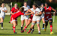 Sally Stott in action, U20 England Women v U20 Canada Women at Trent College, Derby Road, Long Eaton, England, on 26th August 2016