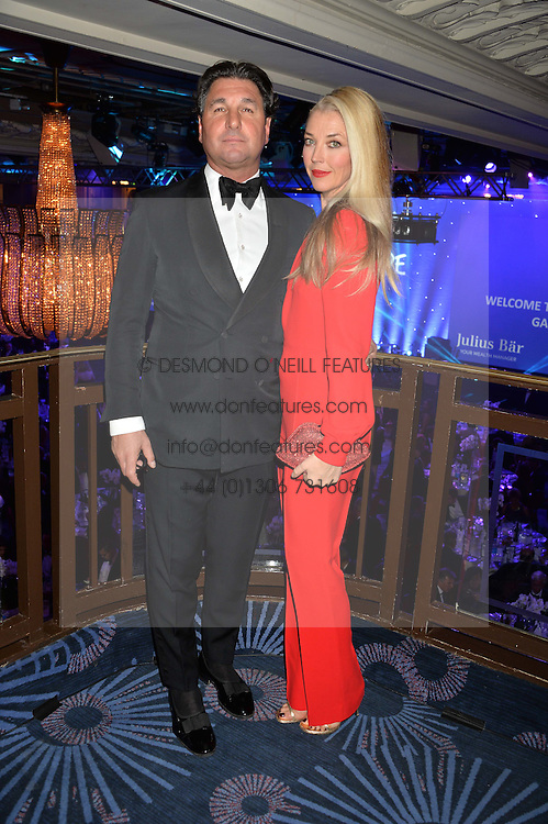 GIORGIO VERONI and TAMARA BECKWITH at the Chain of Hope Gala Ball held at The Grosvenor House Hotel, Park Lane, London on 18th November 2016.