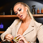 Aishleyne Horgan Wallace attends Jovoy, Luxury Perfumery in Mayfair to launch world renowned floral artist Fabienne Egger Luxury Wreath making workshops across the UK at Jovoy Mayfair on 7 November 2019, London, UK.