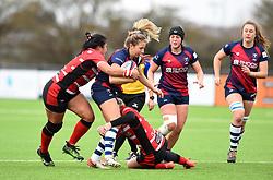 Elinor Snowsill of Bristol Bears Women is tackled - 2019 - RUGBY - Shaftesbury Park - Bristol, England - Bristol Bears Women v Gloucester-Hartpury Women - Tyrrells Premier 15s