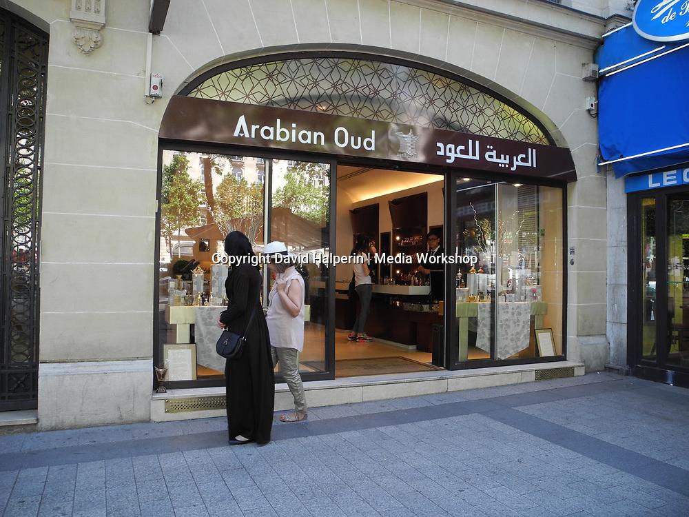 """Arabian Oud"" perfume shop, Champs Elysees, Paris"