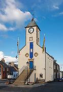 Lauder Tolbooth or Town Hall, which predates 1598 Scottish Borders, Scotland