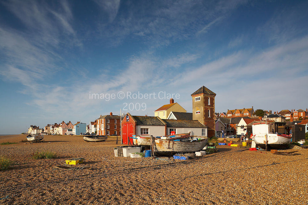 Great Britain England Suffolk Heritage Coastline Aldeburgh Beach Scene