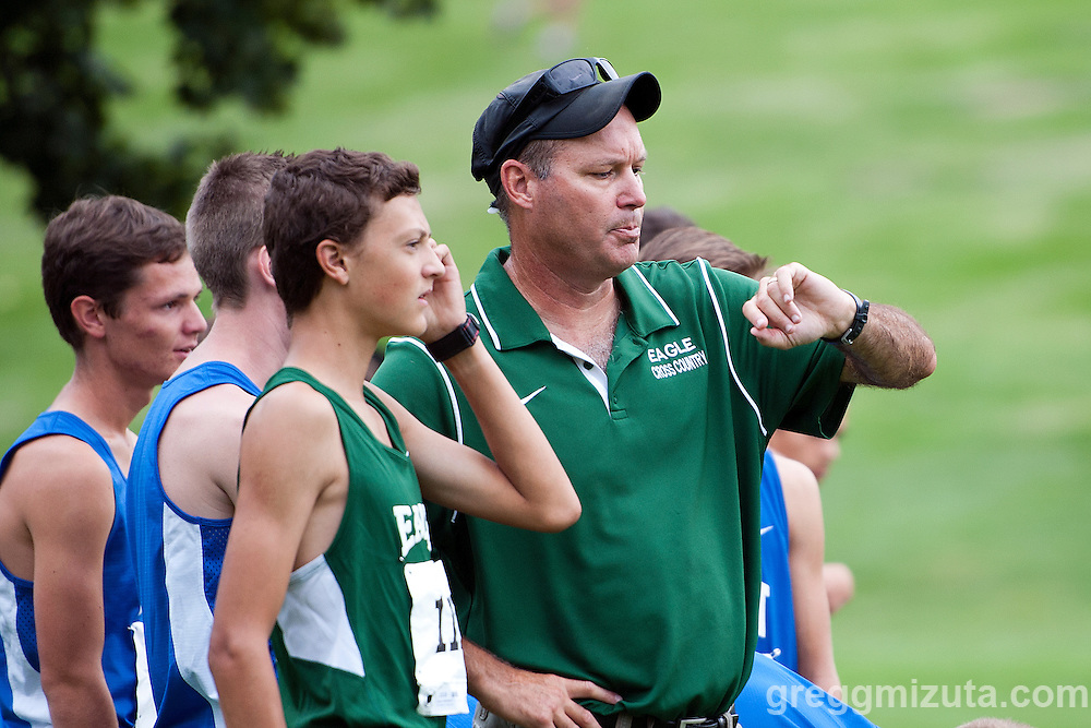 Kalen McNatt and coach Greg Harm before the start of the Camels Back Classic at Camels Back Park, Boise, Idaho, August 29, 2015.