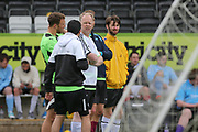 Match action during the Forest Green Rovers 2017 Business Tournament at the New Lawn, Forest Green, United Kingdom on 20 May 2017. Photo by Shane Healey.