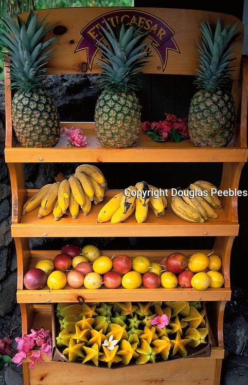 Fruit Stand, Hana Coast, Maui, Hawaii, USA<br />