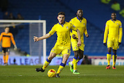 Leeds United defender, Lewie Coyle (31) during the Sky Bet Championship match between Brighton and Hove Albion and Leeds United at the American Express Community Stadium, Brighton and Hove, England on 29 February 2016. Photo by Phil Duncan.
