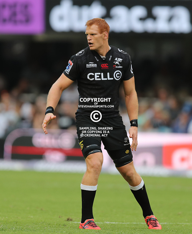 Philip van der Walt of the Cell C Sharks during the Super Rugby match between the Cell C Sharks and the Jaguares  April 8th 2017 - at Growthpoint Kings Park,Durban South Africa Photo by (Steve Haag)