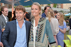 PICTURE SHOWS:-JAMES BLUNT and his wife SOPHIA.<br /> Tuesday 14th April 2015 saw a host of London influencers and VIP faces gather together to celebrate the launch of The Ivy Chelsea Garden. Live entertainment was provided by jazz-trio The Blind Tigers, whilst guests enjoyed Moët & Chandon Champagne, alongside a series of delicious canapés created by the restaurant's Executive Chef, Sean Burbidge.<br /> The evening showcased The Ivy Chelsea Garden to two hundred VIPs and Chelsea<br /> residents, inviting guests to preview the restaurant and gardens which marry<br /> approachable sophistication and familiar luxury with an underlying feeling of glamour and theatre. The Ivy Chelsea Garden's interiors have been designed by Martin Brudnizki Design Studio, and cleverly combine vintage with luxury, resulting in a space that is both alluring and down-to-earth.