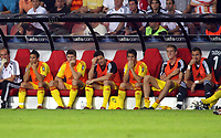 Photo: Chris Ratcliffe.<br /> PSV Eindhoven v Liverpool. UEFA Champions League, Group C. 12/09/2006.<br /> Mark Gonzalez, Steven Gerrard, Xabi Alonso, Luis Garcia, Peter Crouch and Jerzy Dudek of Liverpool start on the bench.