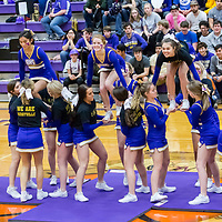 02-08-18 Berryville SR Cheerleaders - Senior Night Green Forest game