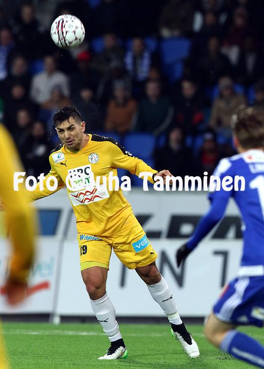 8.4.2016, Sonera Stadion, Helsinki.<br /> Veikkausliiga 2016.<br /> Helsingin Jalkapalloklubi - Vaasan Palloseura.<br /> Nikko Boxall - VPS