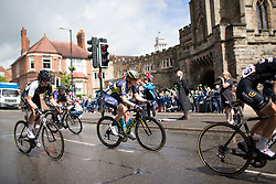 Gracie Elvin (AUS) of Orica Scott Cycling Team rides past the Castle Hill Baptist Church in Warwick during Stage 3 of the OVO Energy Women's Tour - a 151 km road race, between Atherstone and Royal Leamington Spa on June 9, 2017, in Warwickshire, United Kingdom. (Photo by Balint Hamvas/Velofocus.com)