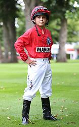 Frankie Dettori's son Rocco Dettori during a media day at Ascot Racecourse, Esher.