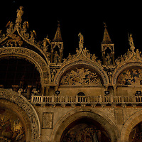 VENICE, ITALY - MARCH 31:  A general view of  St Mark's Cathedral while lights are switched off for Earth Hour 2012 on March 31, 2012 in Venice, Italy. According to organizers, Earth Hour 2012 has participants including individuals, companies and landmarks in 147 countries and territories and over 5,000 cities agreeing to switch off their lights for one hour. The Brandenburg Gate, the Eiffel Tower in Paris, Big Ben Clock Tower in London, the Christ the Redeemer statue in Rio de Janeiro and the Empire State Building in New York are among the monuments whose operators have agreed to participate in the demonstration.  (Photo by Marco Secchi/Getty Images)