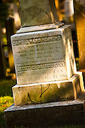 Evening at the First Scots Church cemetery Charleston, SC.