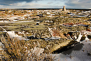 CANADA, Cape Merry (Hudson Bay).View of Cape Merry and the commemorative cairn