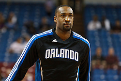 March 9, 2011; Sacramento, CA, USA;  Orlando Magic point guard Gilbert Arenas (1) warms up before the game against the Sacramento Kings at the Power Balance Pavilion. Orlando defeated Sacramento 106-102.
