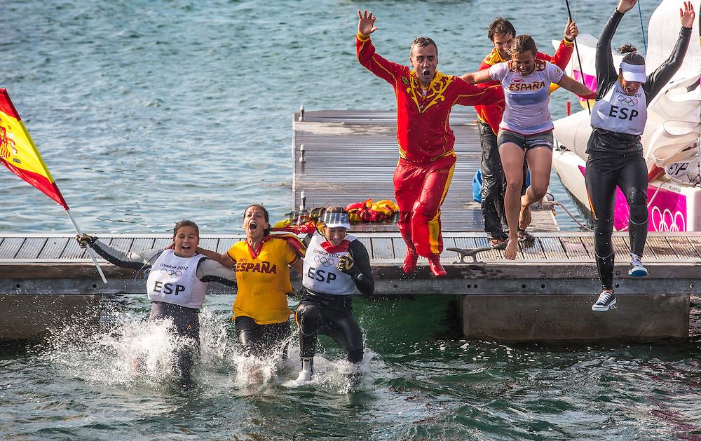 GOLD:<br /> Echegoyen Tamara, Toro Sofia, Pumariega Angela, (ESP, Match Race)<br /> <br /> 2012 Olympic Games <br /> London / Weymouth