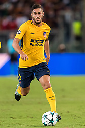 Koke of Club Atletico de Madrid during the UEFA Champions League group C match match between AS Roma and Atletico Madrid on September 12, 2017 at the Stadio Olimpico in Rome, Italy.