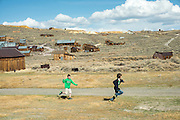 Children play in the Bodie State Historic Park ghost town in Sacramento, Calif.
