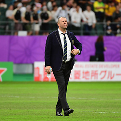 Australia head coach Michael CHEIKA during the Rugby World Cup 2019 Quarter Final match between England and Australia on October 19, 2019 in Oita, Japan. (Photo by Dave Winter/Icon Sport) - Michael CHEIKA - Oita Stadium - Oita (Japon)