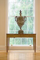 1824 R Street Washington DC Artists Inn lattice window with decorative urn and console table