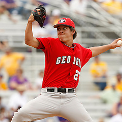 Apr 04, 2010; Baton Rouge, LA, USA; Georgia Bulldogs pitcher Blake Dieterich (27) throws the ball in a game against the LSU Tigers at Alex Box Stadium. Mandatory Credit: Derick E. Hingle-US PRESSWIRE