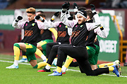 Norwich City forward Teemu Pukki (22) warming up before the FA Cup match between Burnley and Norwich City at Turf Moor, Burnley, England on 25 January 2020.