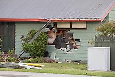 Tauranga-Driver is dead  after crashing into house on Otumoetai Road