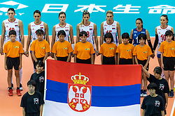 14-10-2018 JPN: World Championship Volleyball Women day 15, Nagoya<br /> Japan - Serbia / line up Serbia National Anthem