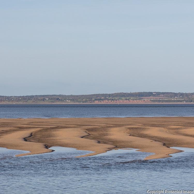 Sand bank, River Dee, Flintshire.