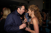 Kelly Hoppen with Johnnie Vaughn, Party to celebrate the publication of Kelly Hoppen's Style Book.  50 Cheyne Walk. London. 10 November 2004. ONE TIME USE ONLY - DO NOT ARCHIVE  © Copyright Photograph by Dafydd Jones 66 Stockwell Park Rd. London SW9 0DA Tel 020 7733 0108 www.dafjones.com